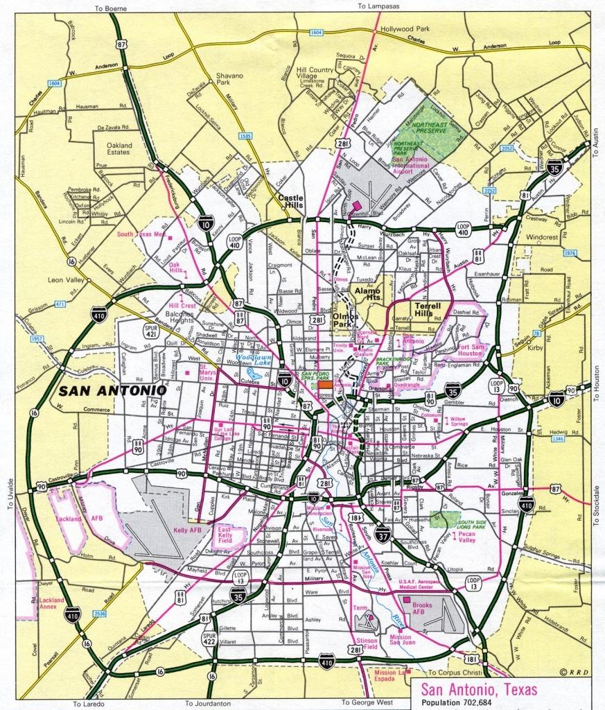 San Antonio Texas Map - Map San Antonio Texas (Texas - Usa) - San Antonio Texas Maps
