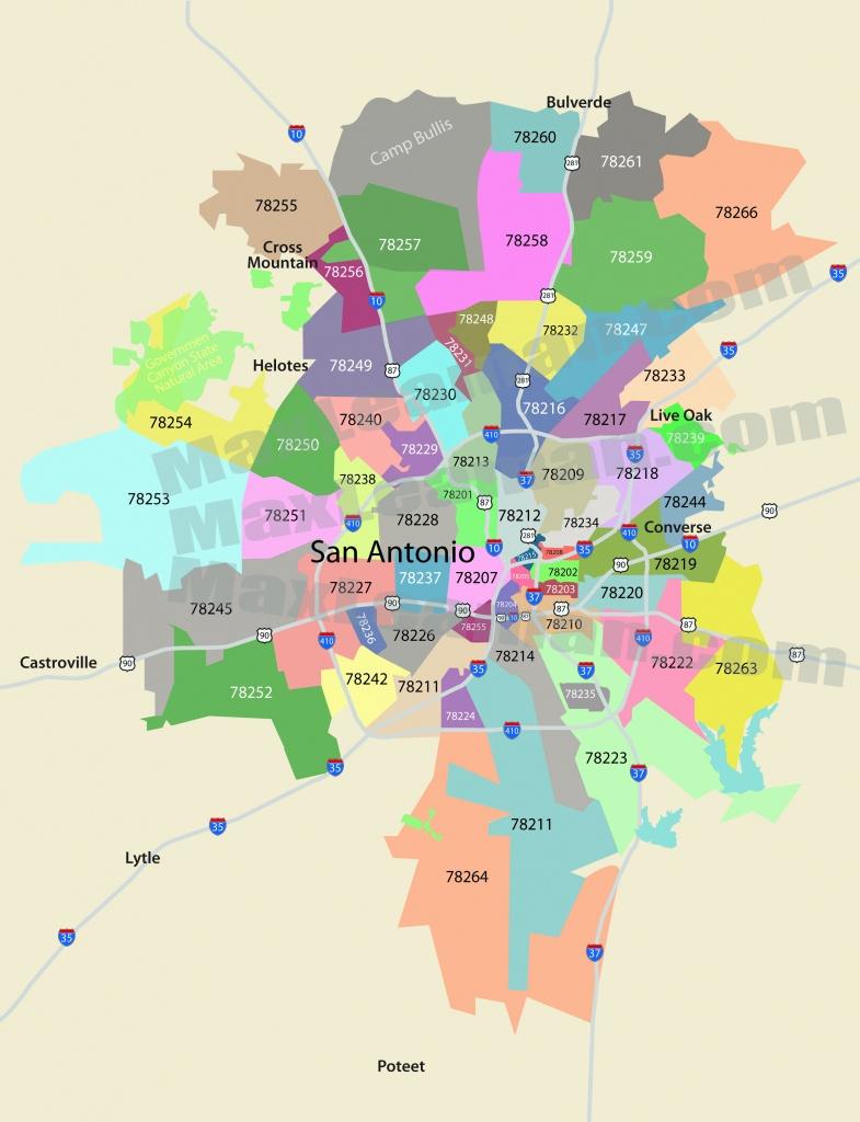 San Antonio Zip Code Map | Mortgage Resources - San Antonio Texas Maps