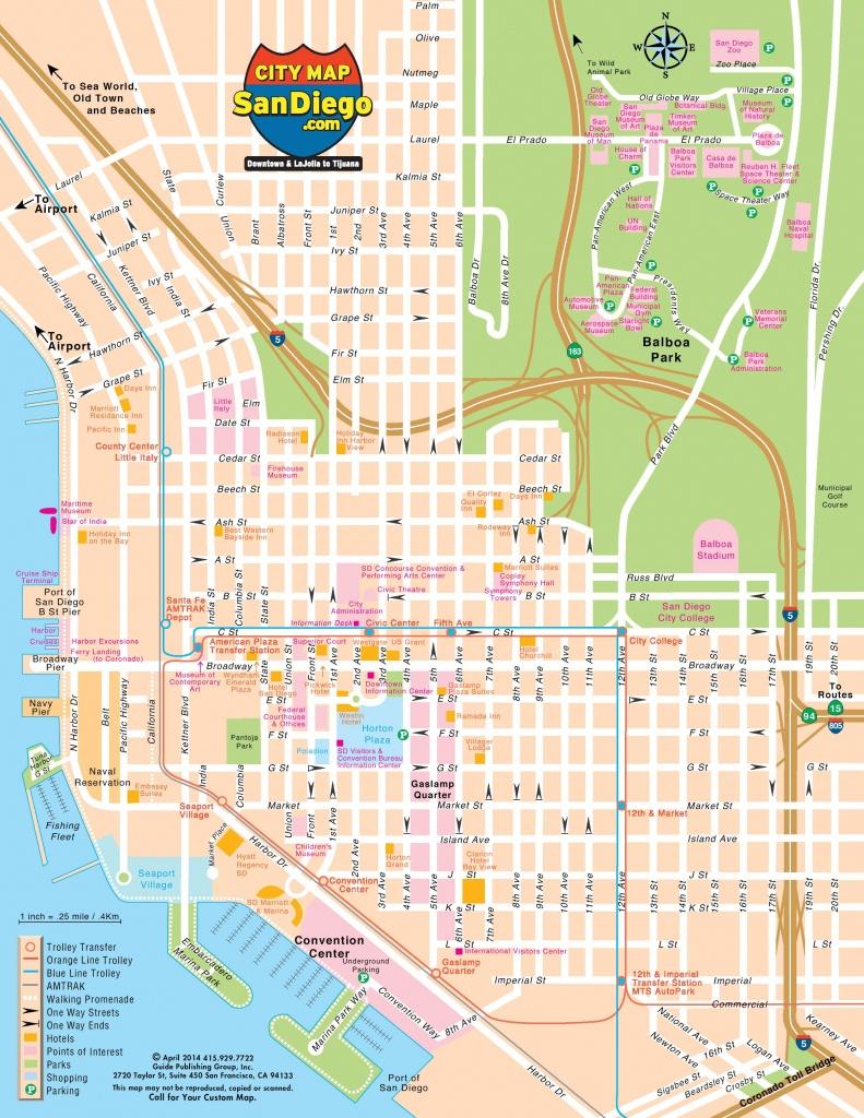 San Diego City Map - City Of San Diego Map (California - Usa) - City Map Of San Diego California