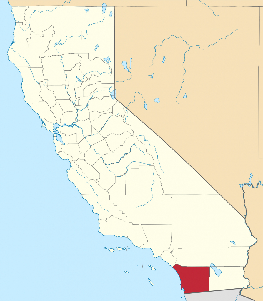 San Diego County, California - Wikipedia - Where Is San Diego California On A Map