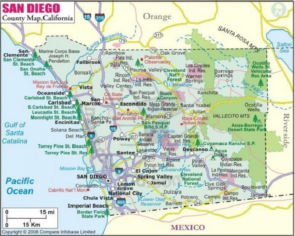 San Diego County Cities Map - Map Of San Diego County Cities - Printable Map Of San Diego County