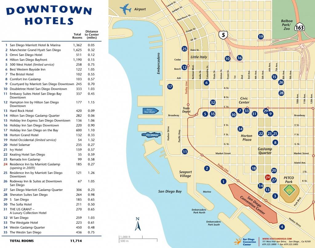 San Diego Maps | California, U.s. | Maps Of San Diego - Printable Map Of San Diego