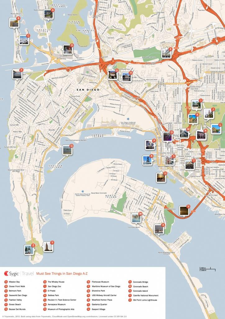 San Diego Printable Tourist Map | Sygic Travel - Printable Map Of San Diego