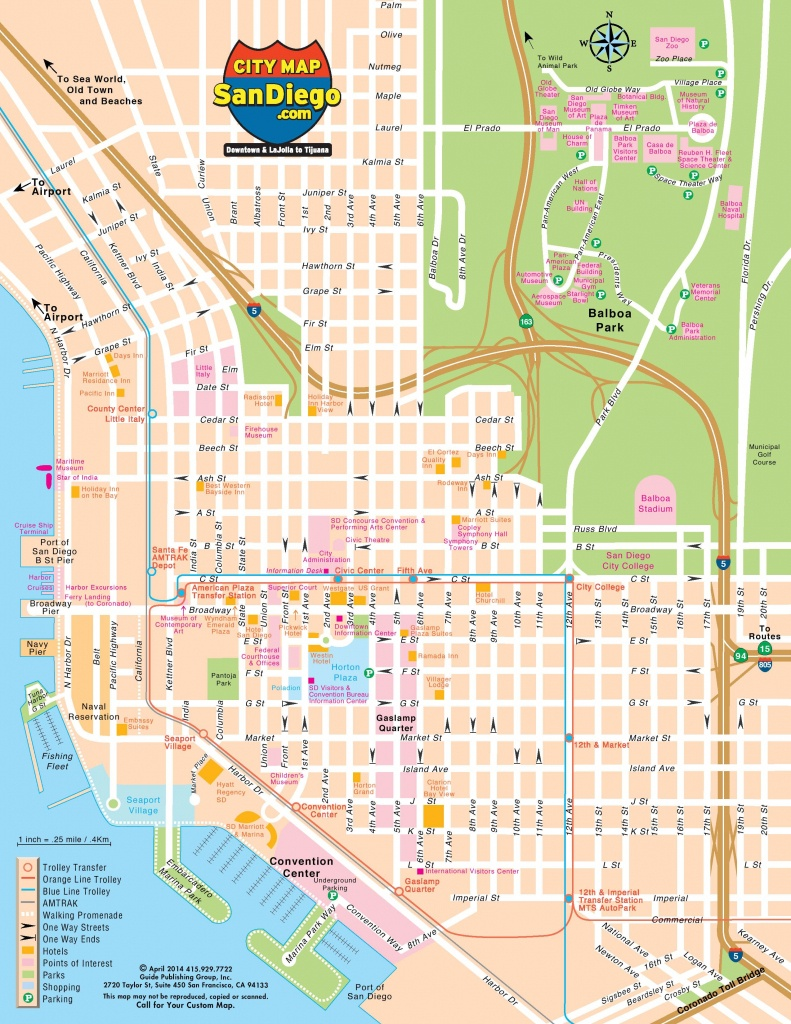 San Diego Street Map - Street Map Of San Diego (California - Usa) - Detailed Map Of San Diego California