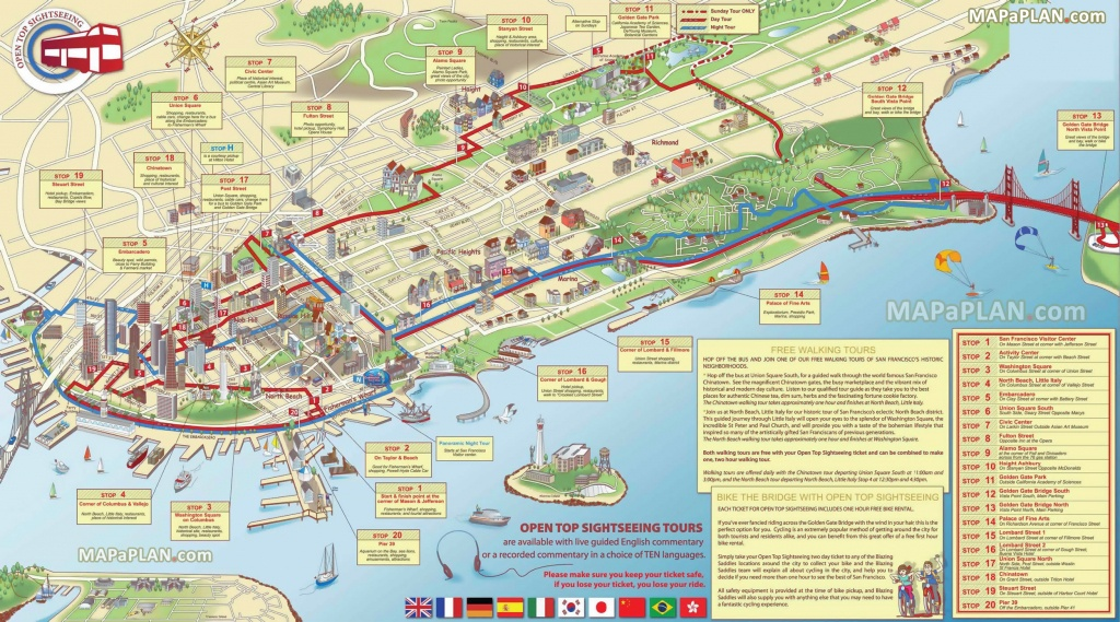 San Francisco Maps - Top Tourist Attractions - Free, Printable City - Printable Map Of San Francisco