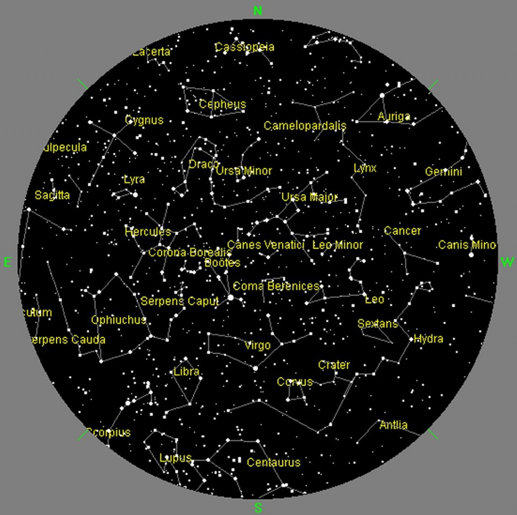 San Francisco Sky Maps - Windows To The Universe - Southern California Night Sky Map