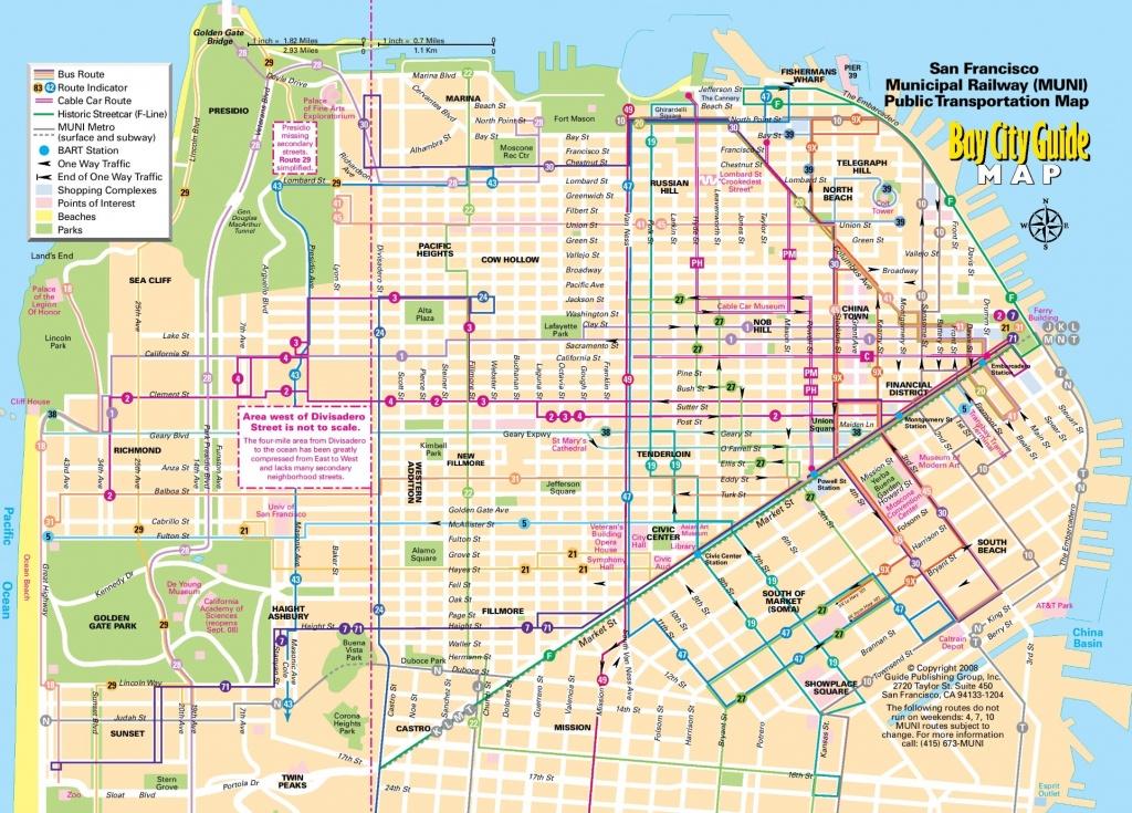 San Francisco Tourist Map Printable And Travel Information - San Francisco City Map Printable