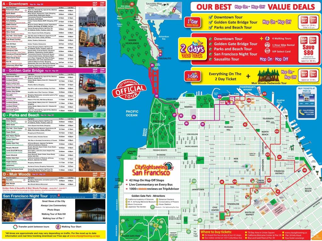 San Francisco Tourist Map Printable And Travel Information - San Francisco Tourist Map Printable