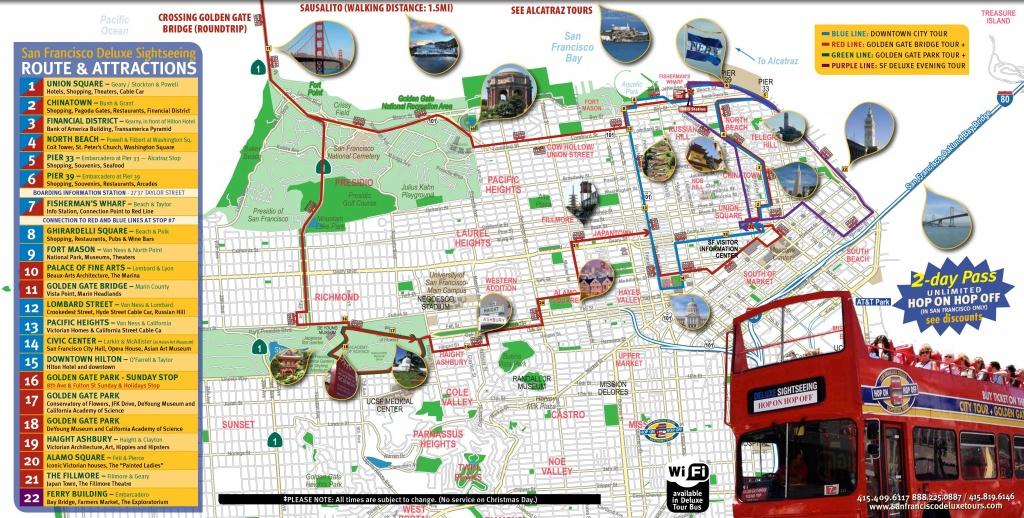 San Francisco Tourist Map Printable   Maps Update #21051488: San - Printable Map Of San Francisco Tourist Attractions