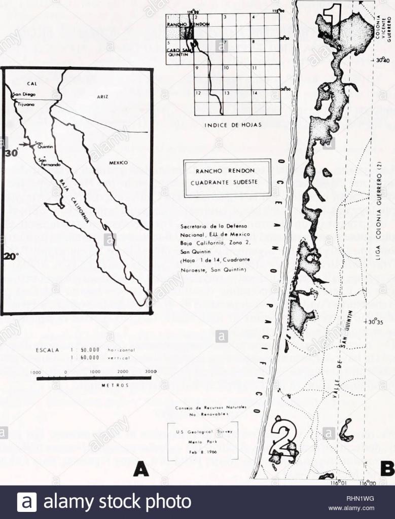 San Quintin Baja California Stock Photos & San Quintin Baja - San Quintin Baja California Map