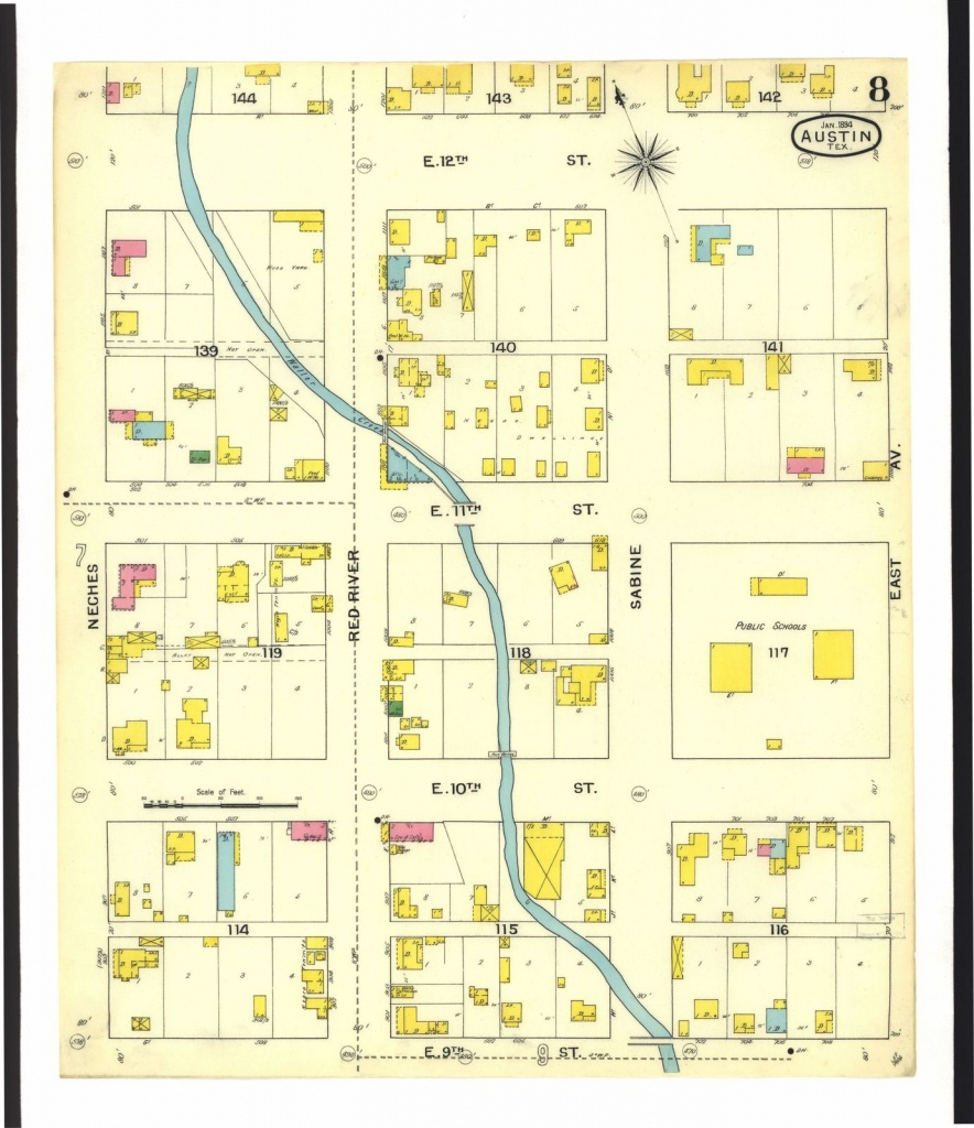 Sanborn Fire Insurance Map From Austin, Travis County, Texas.   Picryl - Map Insurance Texas
