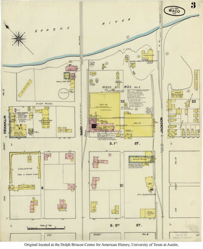 Sanborn Maps Of Texas - Perry-Castañeda Map Collection - Ut Library - Google Maps Waco Texas