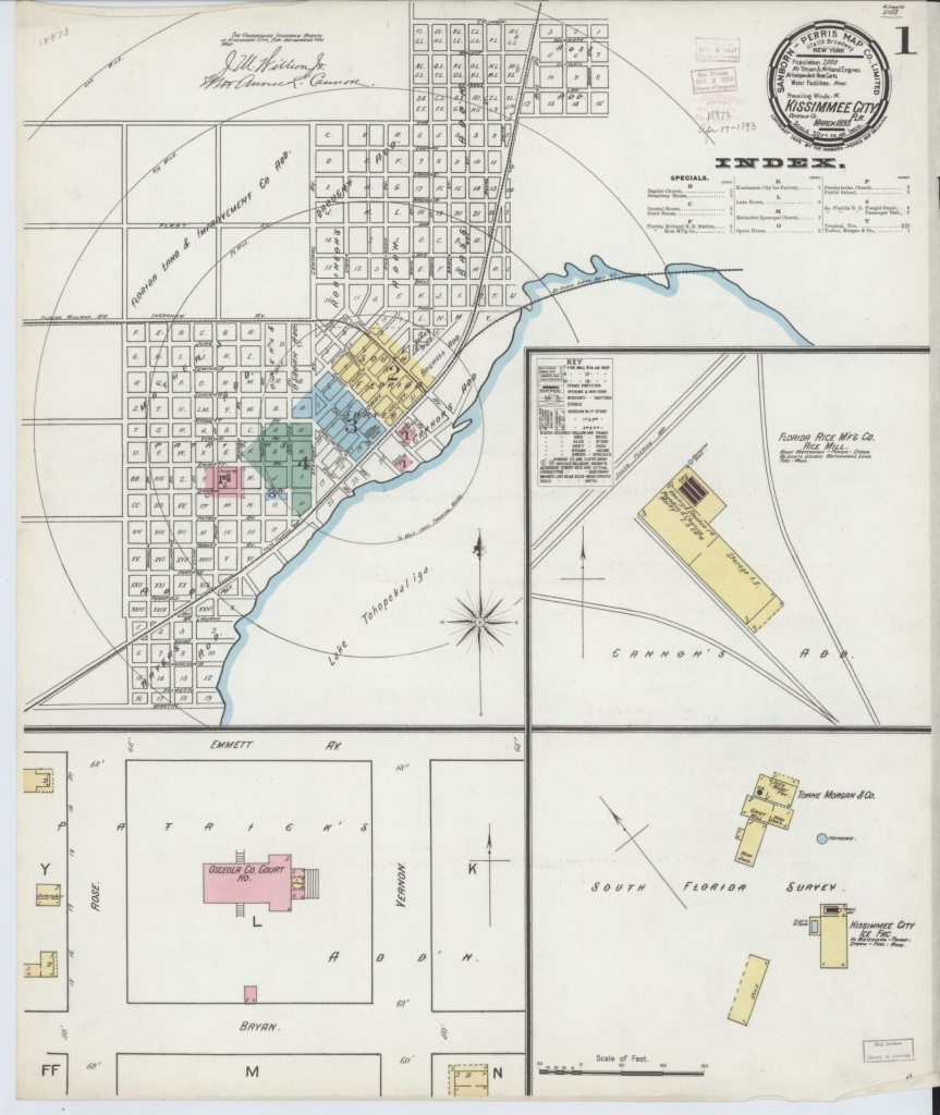 Sanborn Maps, Osceola County | Library Of Congress - Map Of Osceola County Florida