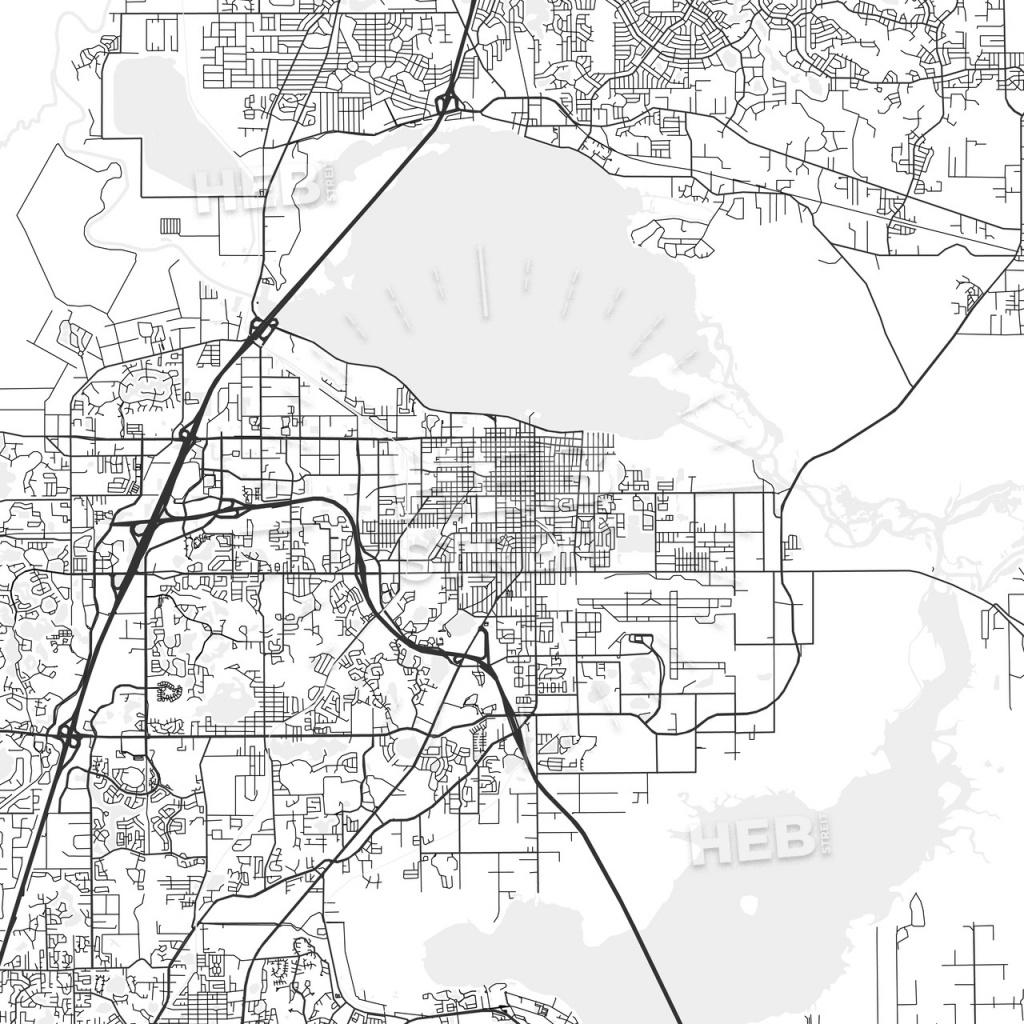 Sanford, Florida - Area Map - Light | Hebstreits Sketches - Sanford Florida Map
