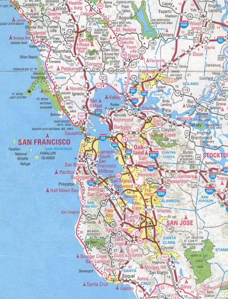 Sanfrancisco Bay Area And California Maps | English 4 Me 2 - Printable Map Of San Francisco Bay Area