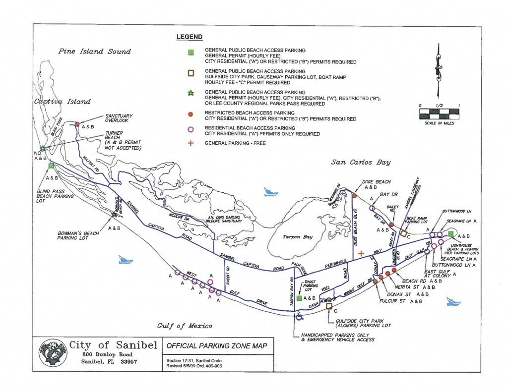 Sanibel Captiva Beach Parking Map   Restrooms   Beach Access   I - Sanibel Beach Florida Map