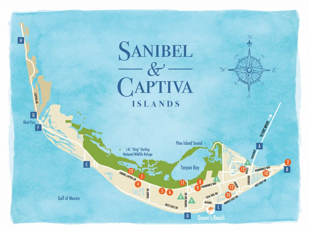 Sanibel Island Map To Guide You Around The Islands - Sanibel Beach Florida Map