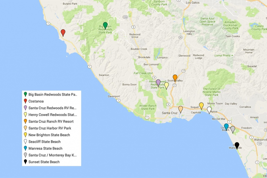 Santa Cruz Camping - Places You Will Love To Stay - California State Campgrounds Map