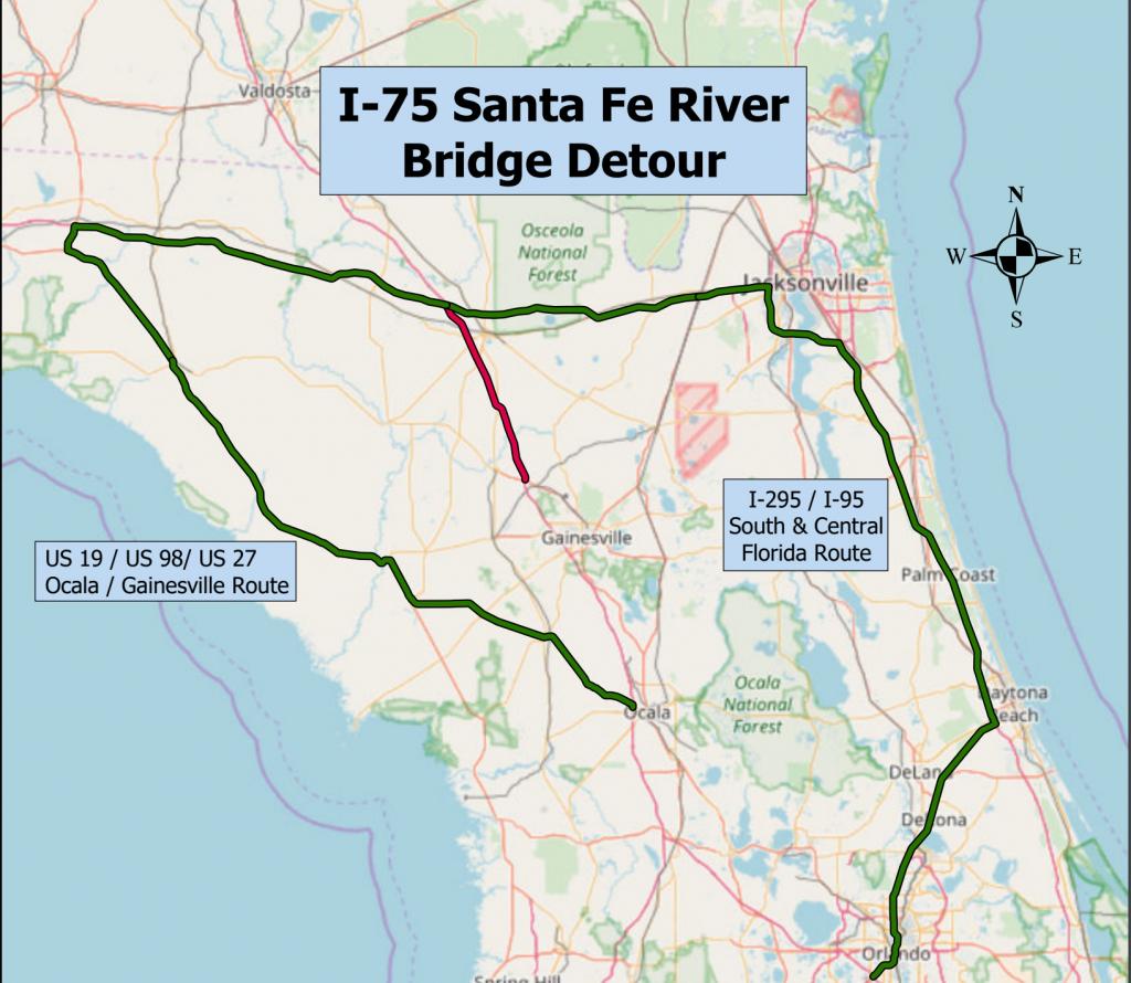 Santa Fe River Floods, Closes Several Roads - Flood Maps Gainesville Florida