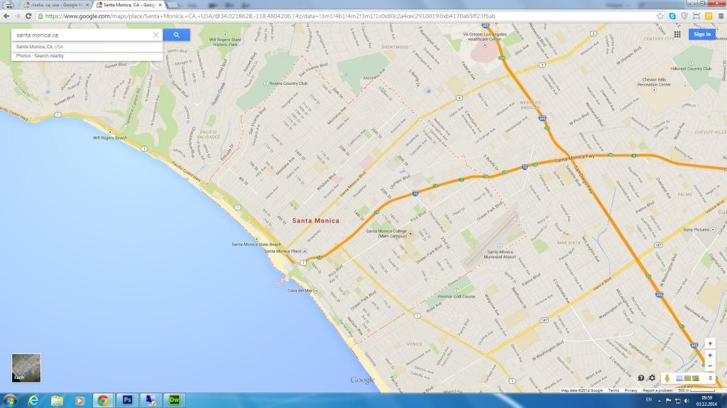 Santa Monica, California Map - Where Is Santa Monica California On A Map