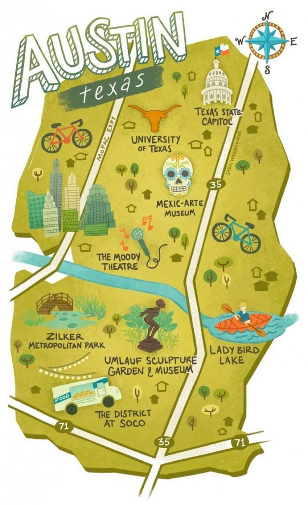 Sara Wasserboehr - Map Of Austin Texas   Wanna Go, Gotta Go! In 2019 - Austin Texas Map