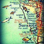 Sarasota Siesta Key Florida 11X14 Vintage Map Photograph Beach | Etsy   Siesta Key Florida Map