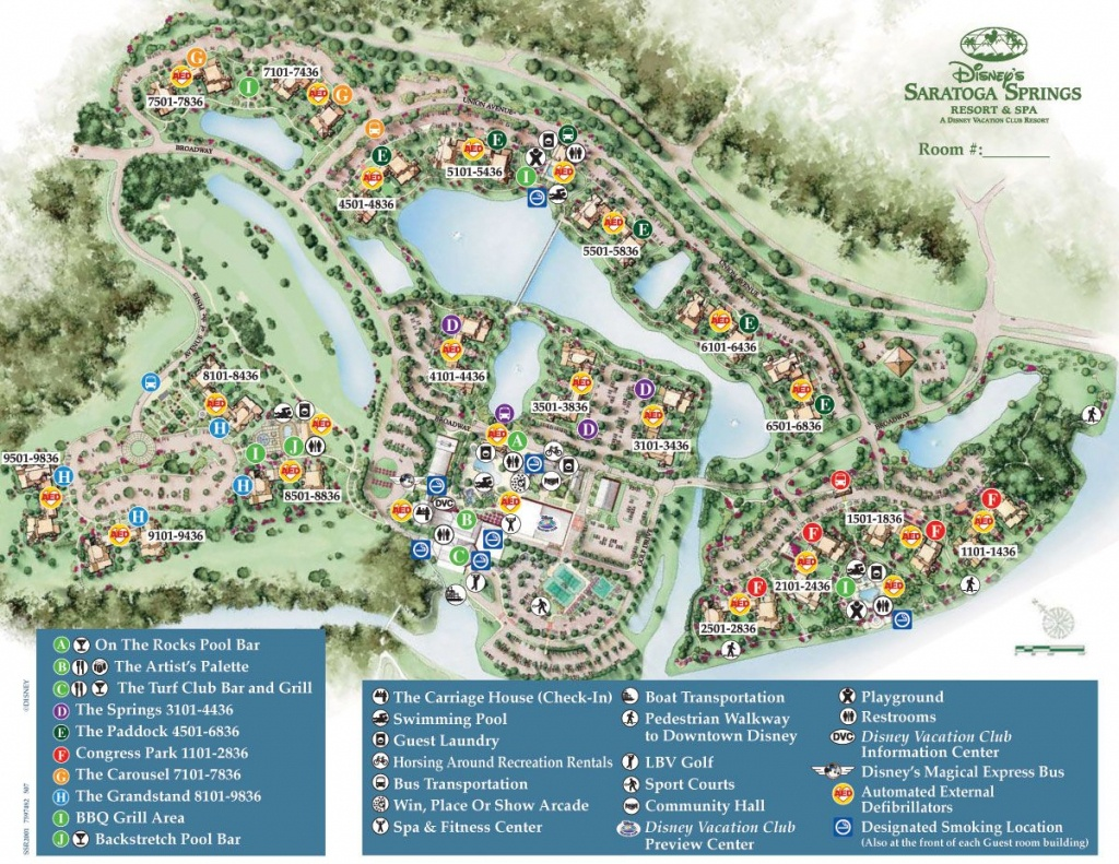 Saratoga Springs Map. Based On Location To Bus, Pool, Carriage House - Map Of Disney Springs Florida