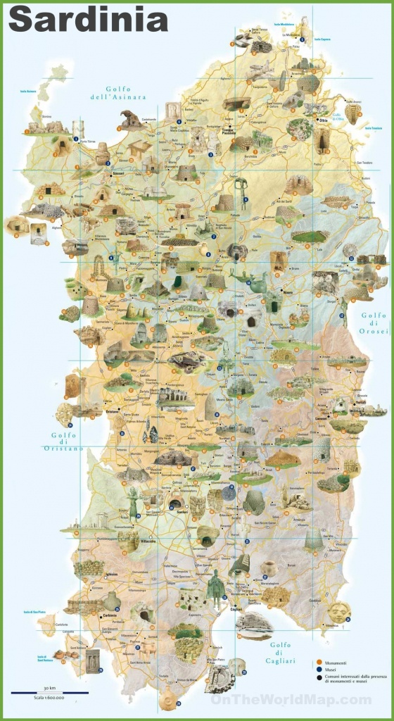 Sardinia Tourist Map - Printable Map Of Sardinia