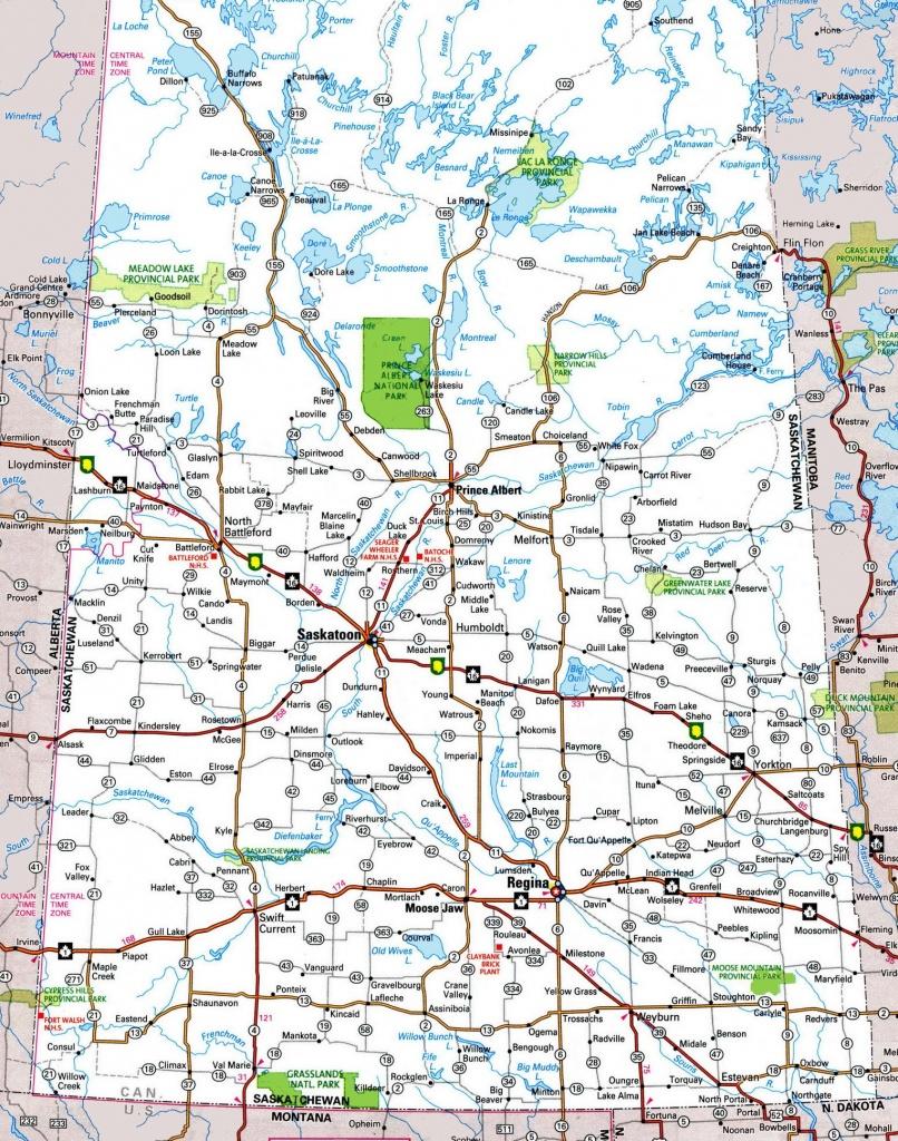 Saskatchewan Highway Map - Printable Map Of Saskatchewan