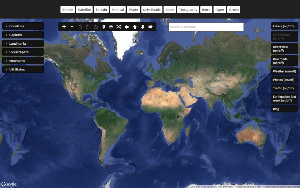 Satellite World Map - Google Maps Satellite Texas
