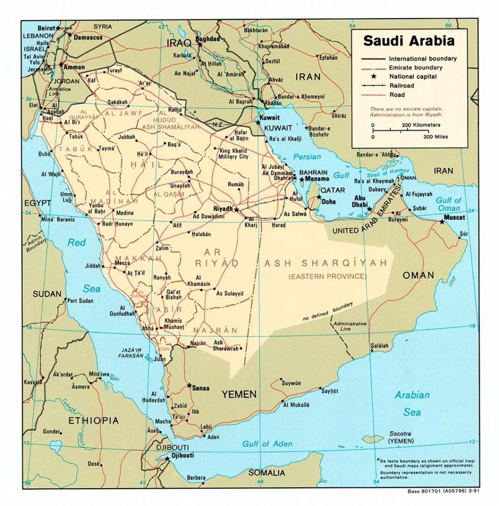 Saudi Arabia Maps - Perry-Castañeda Map Collection - Ut Library Online - Printable Map Of Saudi Arabia
