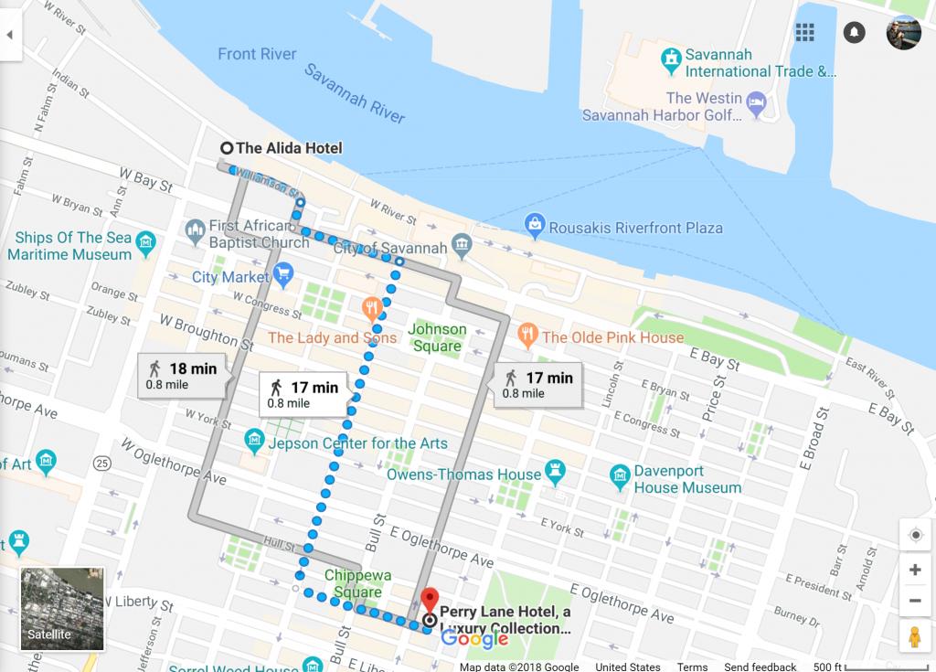 Savannah, Georgia Has Two Starwood Hotels Opening Summer 2018 - Spg Hotels California Map