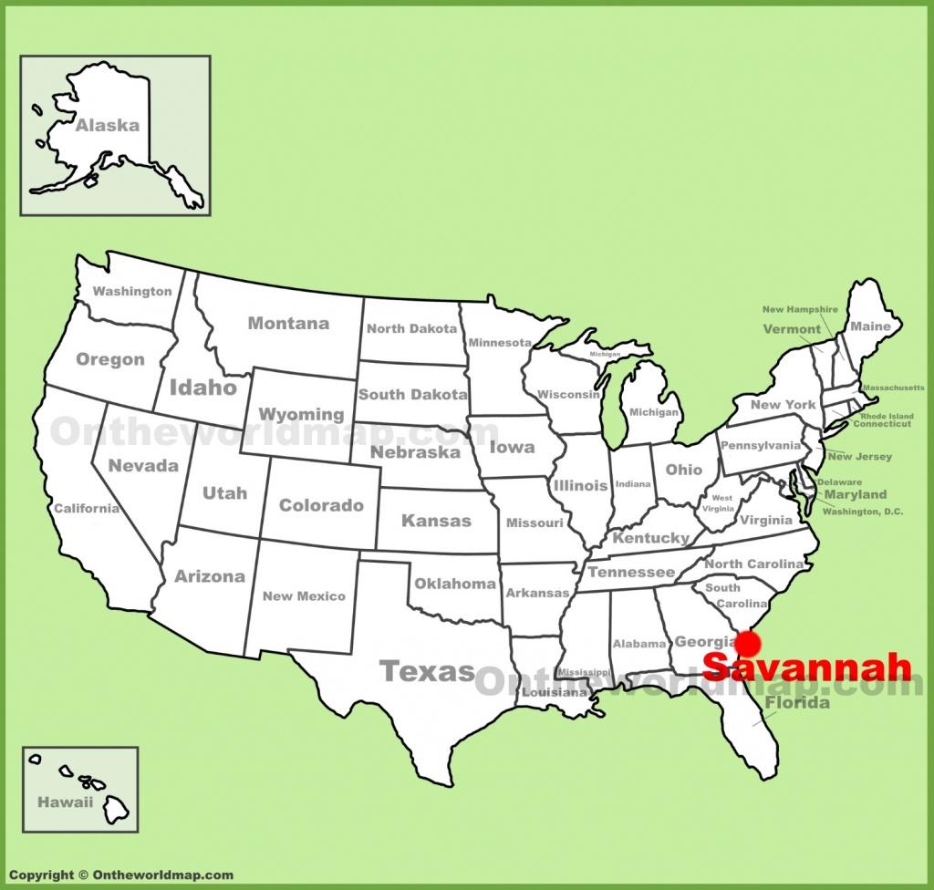 Savannah Maps | Georgia, U.s. | Maps Of Savannah - Printable Map Of Savannah