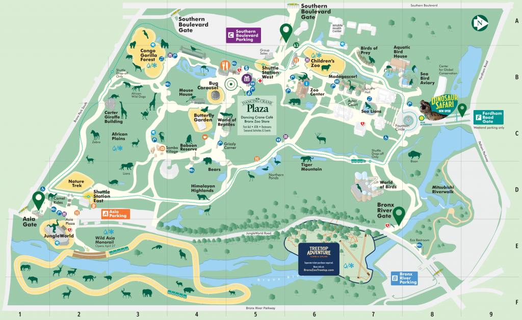 Saving Wildlife And Wild Places - Bronx Zoo - Central Florida Zoo Map