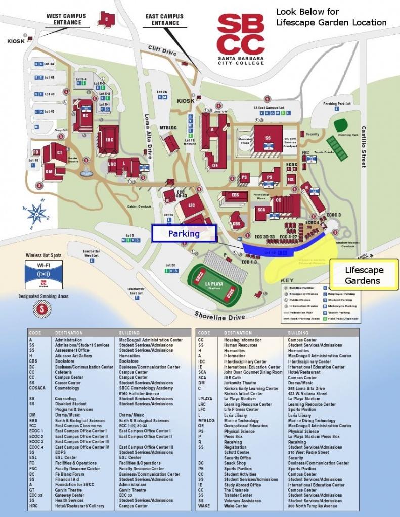 Sbcc Campus Map | Santa Barbara City College (Sbcc) | Campus Map - Texas Southmost College Map