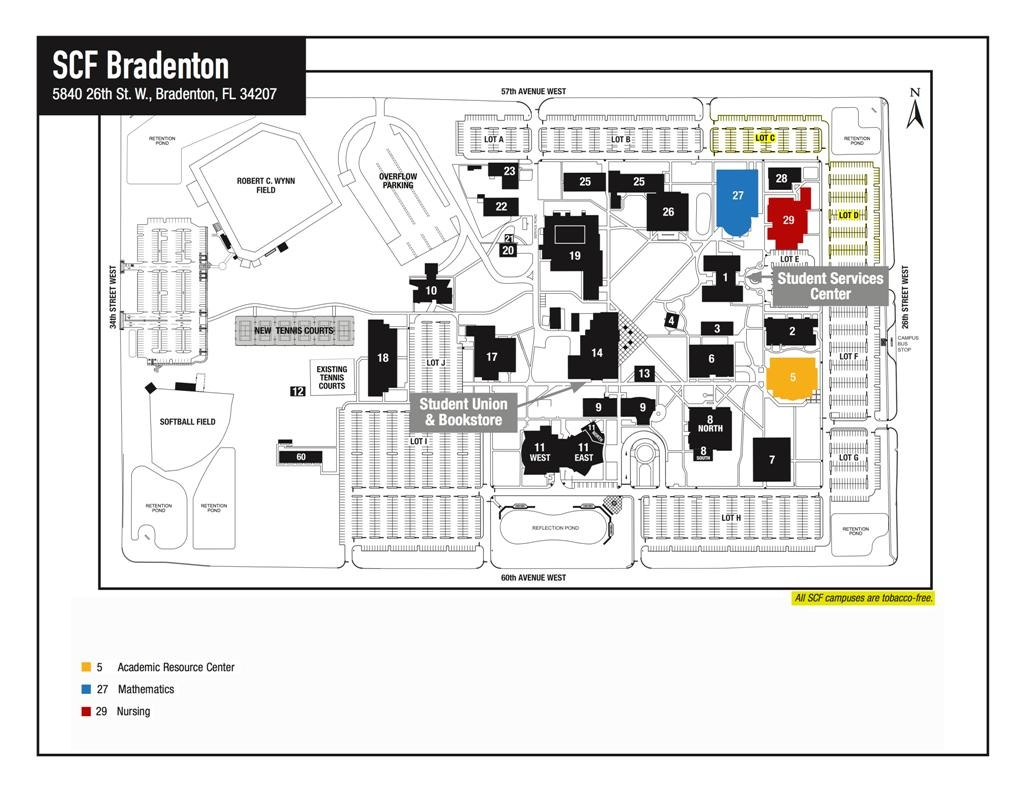 Scf Campus Map | Fysiotherapieamstelstreek - State College Of Florida Bradenton Campus Map