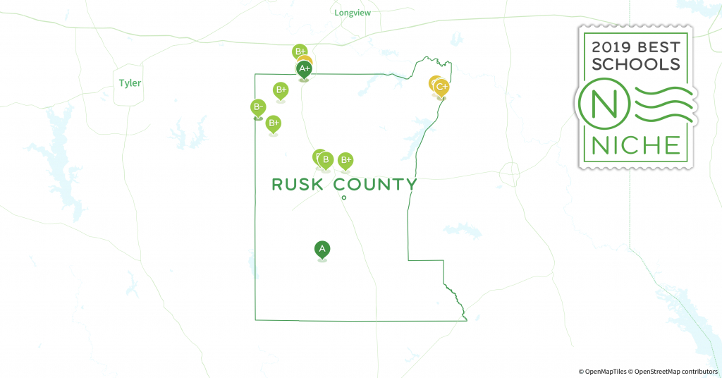School Districts In Rusk County, Tx - Niche - Rusk County Texas Map