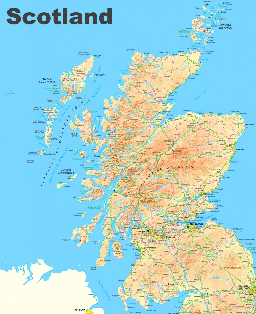 Scotland Road Map - Detailed Map Of Scotland Printable