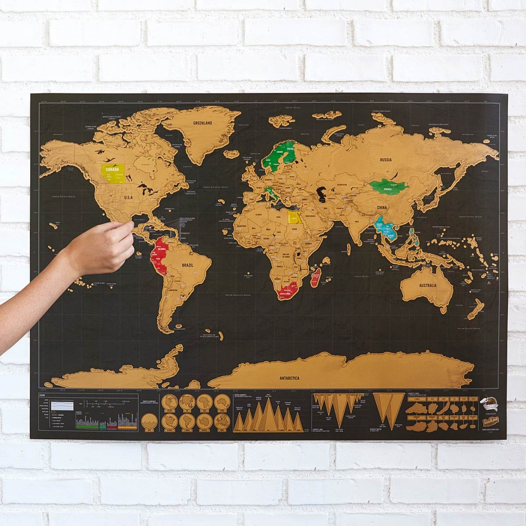 Scratch Map Deluxe | Scratch-Off Wall Maps | Uncommongoods - Texas Scratch Off Map