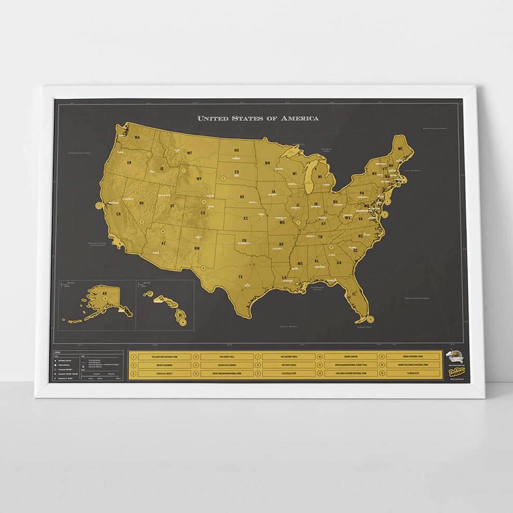 Scratch Map® Usa Deluxe Posterluckies   Notonthehighstreet - Florida Scratch Off Map