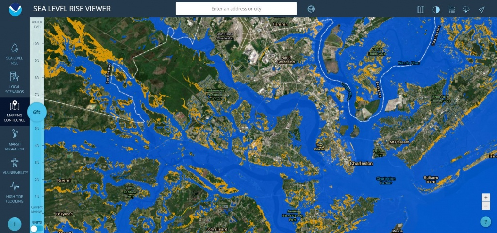 Sea Level Rise Viewer - Florida Sea Level Rise Map