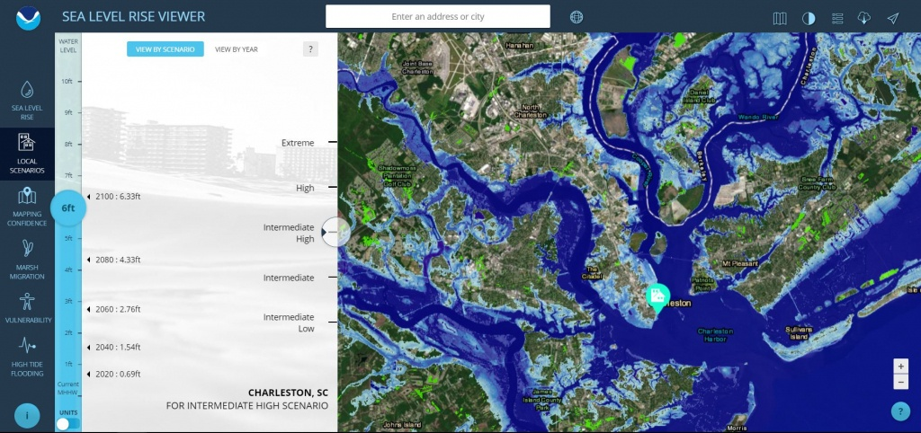 Sea Level Rise Viewer - Florida Water Rising Map