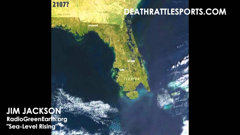 Sea-Level Waters Rising In Florida Because Of Climate Change? - Youtube - Florida Map After Global Warming