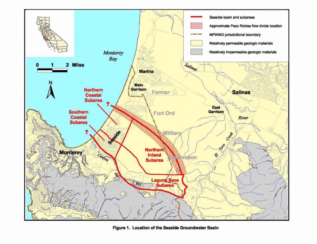 Seaside Basin | Monterey Peninsula Water Management District - Seaside California Map