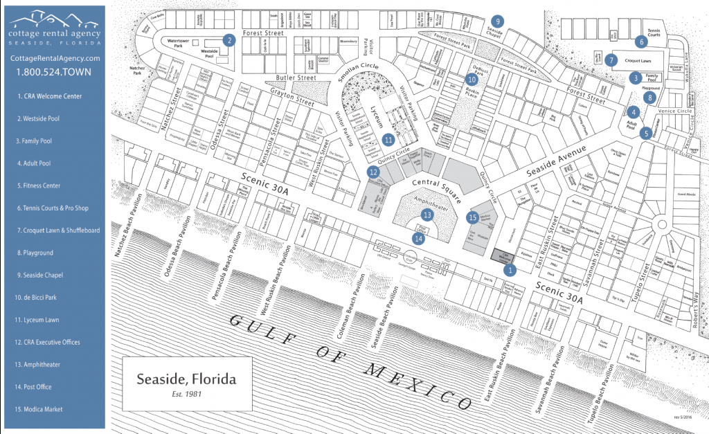 Seaside, Florida And 30A Guest Services – Seaside Florida Vacation - Seaside Florida Town Map