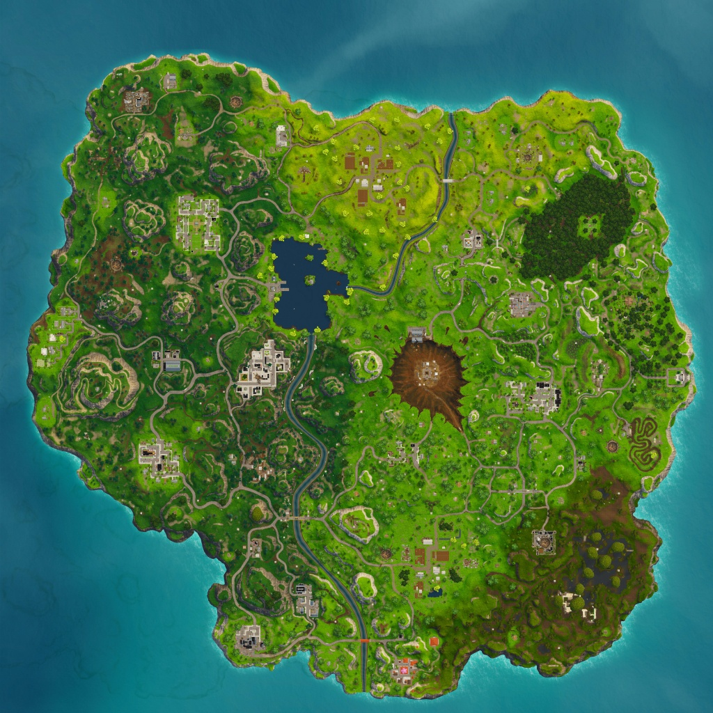 Season 4 Map (Hi-Res) : Fortnitebr - Printable Fortnite Map