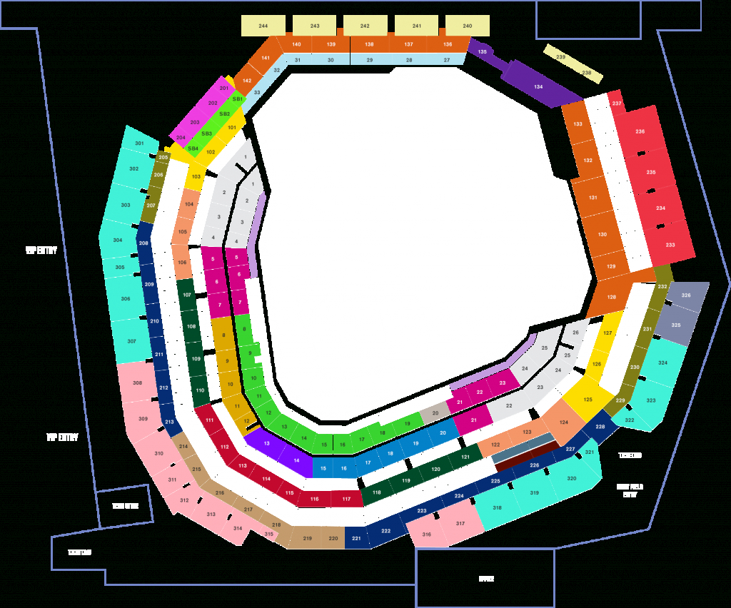 Seat Map For The New Stadium : Texasrangers - Texas Rangers Season Ticket Parking Map