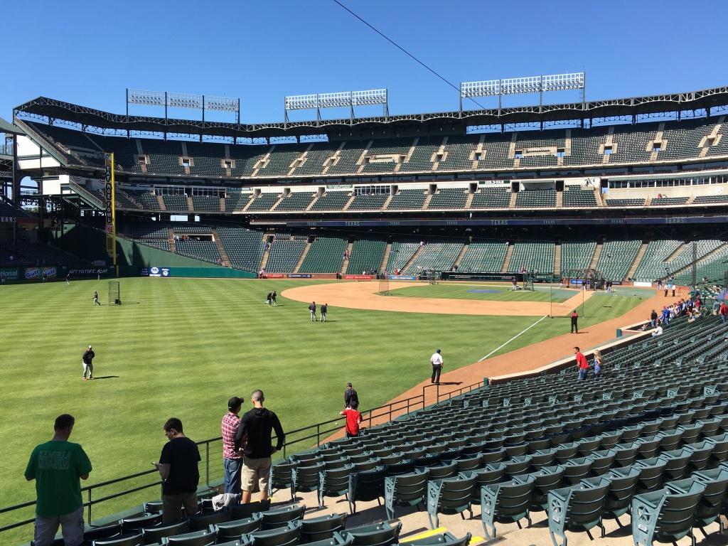 Seat Selector — Rangerfans - Texas Rangers Seat Map