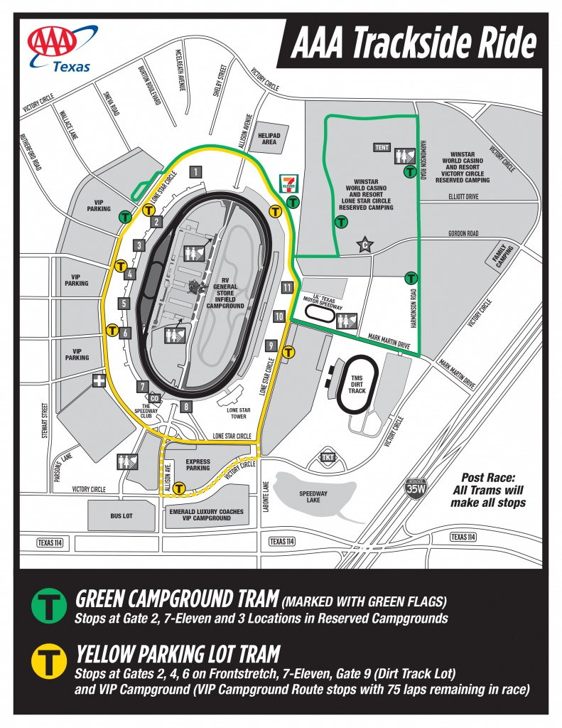 Seating Chart And Facility Maps - Texas Motor Speedway Parking Map