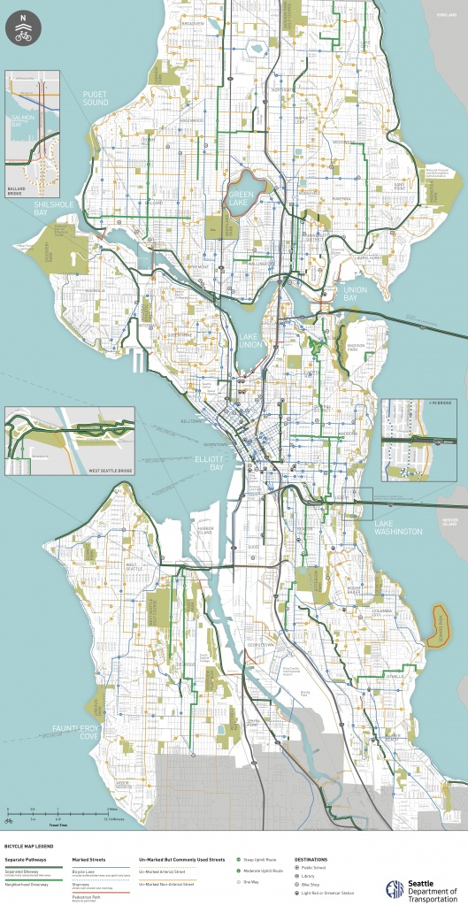 Seattle Area Bike Maps | Seattle Bike Blog - Printable Map Of Seattle Area